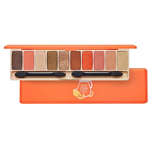 ETUDE HOUSE Play Color Eyes #Juice Bar   Vivid 10 Juicy Colors Eye Shadow Palette with Soft Base and Shimmer Colors   Kbeauty Makeup   Korean Cosmetics