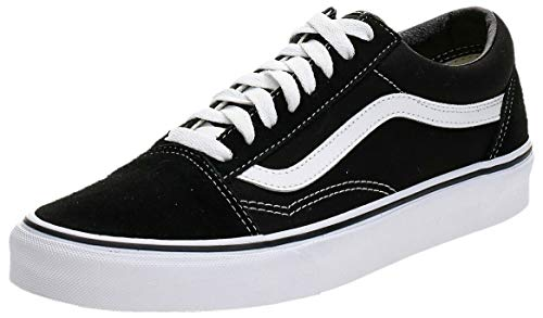 Vans Old Skool Zapatillas Unisex, Negro (Black/White), 42