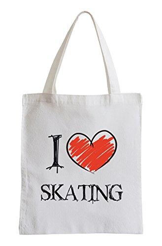 I Love Skating Fun Jutebeutel