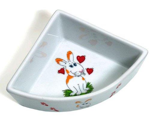 Karlie Keramik-Ecknapf fr Hasen - 250 ml, Futternapf, Futterstelle fr Kleintiere