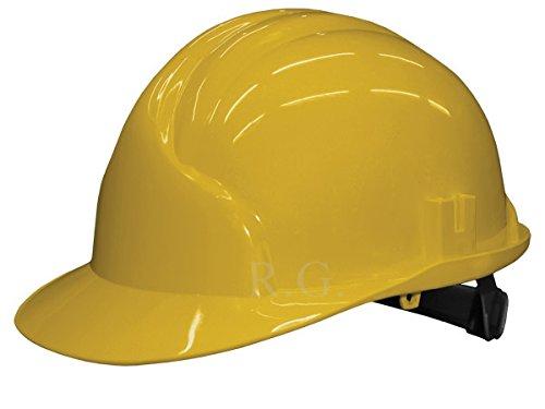 Unbekannt Bauarbeiterhelm Schutzhelm Bauhelm Schutzhelme Helm EN 397 53-61 cm 6 Farben (Gelb)