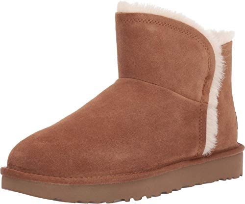 UGG W Classic Mini Fluff High-Low, Botas Mujer, Marrón (Chestnut Che), 38 EU