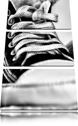 ZYJHD Monocrome, Converse All Stars Shoes 3-Piece Canvas Picture 50Cmx90Cm Image on...