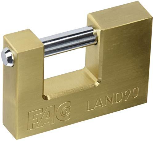 Fac seguridad - Candado rectangular 90mm laton (en caja)