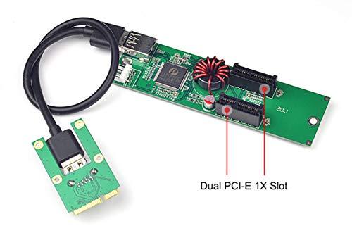 EST Mini PCI-E PCI Express to PCI-E X1 Extender Riser Card USB...