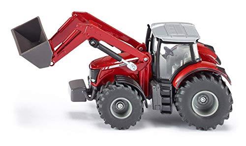SIKU 1985, Massey Ferguson 8690 Traktor mit Frontlader, 1:50, Metall/Kunststoff, rot, Viele Funktionen