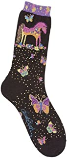 Laurel Burch Women's Single Pack Lively Nature Crew Socks