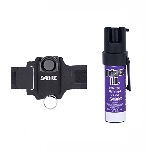 Sabre USA Pack Défense alarme 130 dB + Spray Defense 19ml