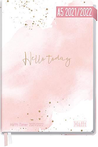 Häfft-Timer 2021/2022 A5 [Hello today] Hardcover Schüler-Kalender, Schüler-Planer, Schulplaner, Studienplaner/Semesterplaner für Oberstufe, Ausbildung oder Studium | nachhaltig & klimaneutral
