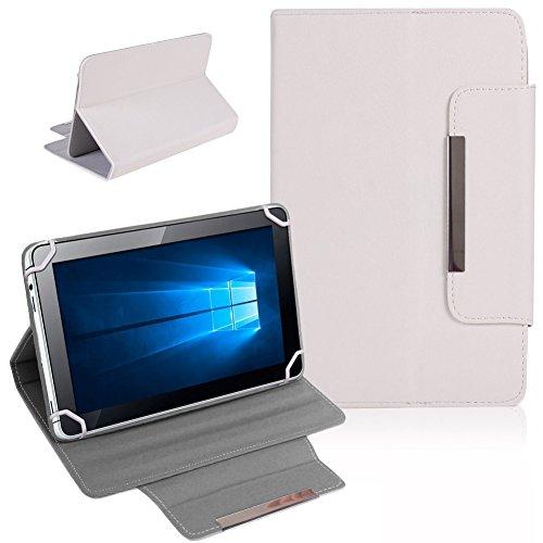 Nauci Tablet Schutz Tasche Hülle für ARCHOS 101b Xenon Hülle Cover Universal Bag, Farben:Weiß