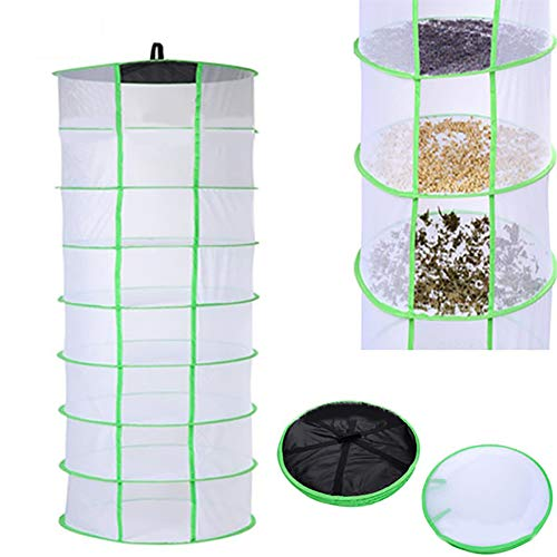 ZLRE 8 Layer Herb Drying Rack 2ft Hanging Dry Net for Hydroponic Plant Herb and Bud