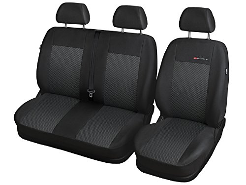 Sprinter Sitzbezüge nach Maß Autoplanen perfekte Passform Schonbezüge Sitzschoner Velour + Strickpolster ®Auto-schmuck (Sprinter II p3)