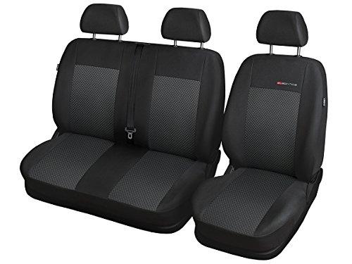 Fiat DUCATO Sitzbezüge nach Maß Autoplanen perfekte Passform Schonbezüge Sitzschoner Velour + Strickpolster ®Auto-schmuck (Ducato II p3)