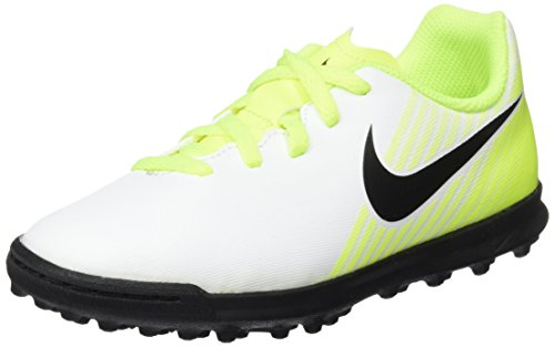 Nike Magista Ola II TF, Botas de fútbol Unisex niños, (White/Black/Volt/Pure Platinum), 33 EU