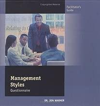 Management Styles Questionnaire (Facilitator's Guide)