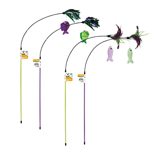 OurPets Fish Teaser Play Wand Cat Toy