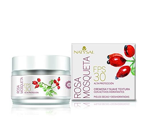 Natysal Crema de Rosa Mosqueta Fps30, Para Piel Seca y Deshidratada, Multicolor, 50 Ml