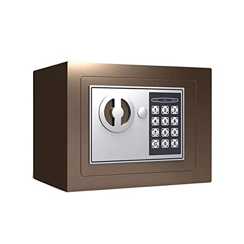 HDCDKKOU Acero Seguridad Digital Caja Fuerte, código de bloqueo fuerte a prueba de agua contra incendios de alta seguridad Seguridad de contraseña segura Gabinete Caja de almacenamiento de Guardia din