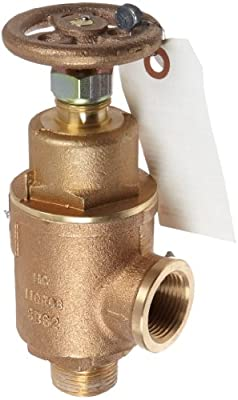 """Kunkle 0019-E11-MG0100 Bronze Liquid Relief Valve, 100 Preset Pressure, 1"""" NPT Female Inlet x NPT Male Outlet by Tyco Valves & Controls"""
