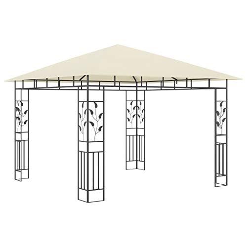 Tidyard Carpa de jardín Carpas para Fiestas Cenador con mosquitera Color Crema 3x3x2,73 m 180 g/m²