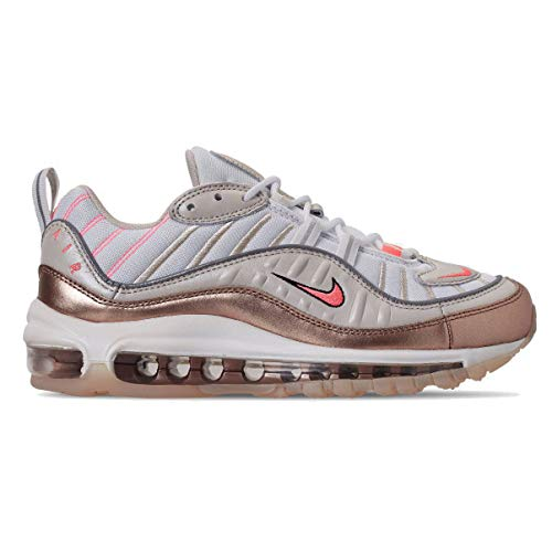 Nike Womens Air Max 98 Low Top Sneakers Running Shoes (10, Light Orewood Brown/Lava Glow)