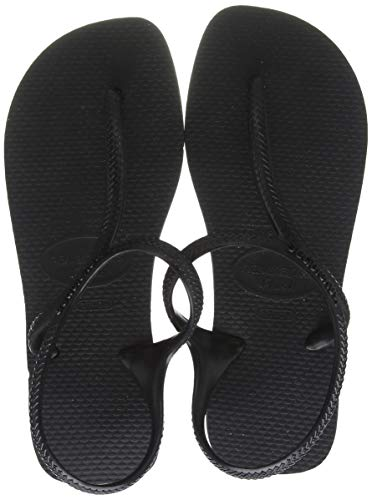 Havaianas Flash Urban, Sandalia Mujer, Multicolor (Black), 39/40