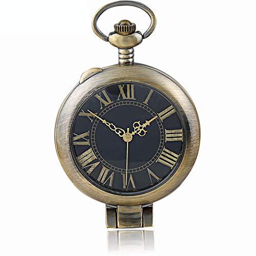 Tendencia alternar reloj de bolsillo de cuarzo romano con pantalla doble Reloj...