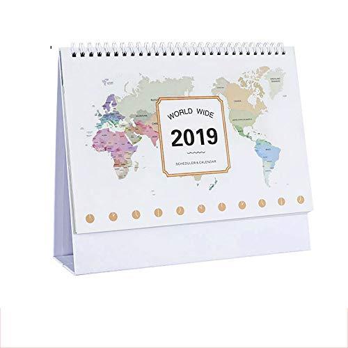 DEI QI 2019 Año Calendario Encantador Escritorio de Bricolaje Agenda Bloc de Notas Planificador del Calendario Diario 2018.11~2020.01 (Color : C)