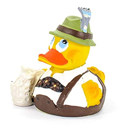 Octoberfest German Beer Rubber Duck Bath Toy   All Natural, Organic, Eco Friendly, Squeaker   Imported from Barcelona, Spain