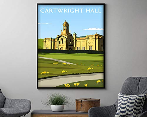 AZSTEEL Cartwright Hall Print Travel Poster, Travel Decor Housewarming Gift, Travel Wall Art Decor | Poster No Frame Board for Office Decor, Best Gift for Family and Your Friends 11.7 * 16.5 Inch