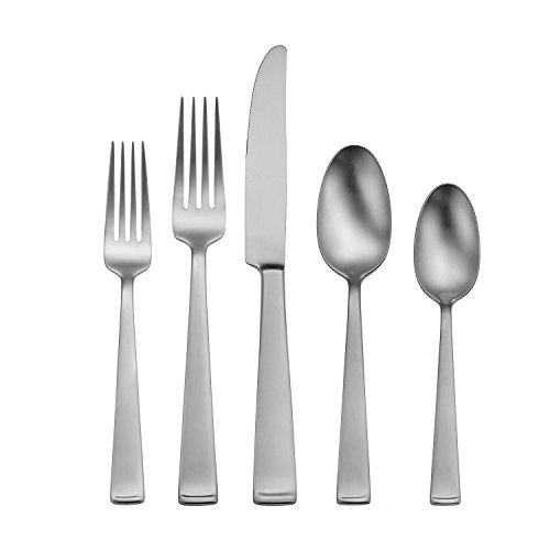 Oneida Satin Lewin 65-Piece Flatware Set, Service for 12 Silver