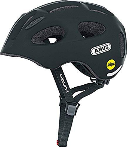 ABUS Youn-I MIPS Kinderhelm - Fahrradhelm für Kinder - für Mädchen und Jungen - 38811 - Schwarz Matt, Größe S