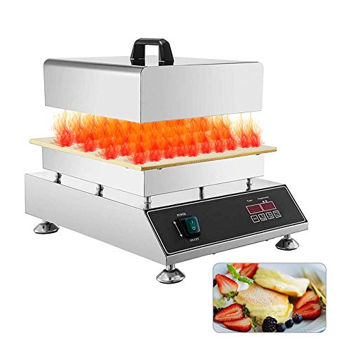 hzexun Gofrera Máquina De Gofre, Soufflé De Waffles De Panqueque Japonés, Termostato Ajustable, Placas Antiadherentes,1500W