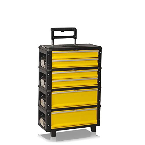 Werkzeugtrolley, 4fach 1.1.2.2 gelb
