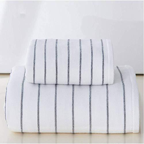 DSJDSFH 2-delige badhanddoekenset van katoen, modieuze stijl, 70 x 140 cm, 2 kleuren