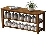 Ranuras de zapato ajustables Organizador Bastidore Rack de zapatos 3 niveles de zapatos de bambú Estilo moderno simple Home Zapato Soporte Puerta Multifunción Zapatos Mueble Mueble Almacenamiento Orga