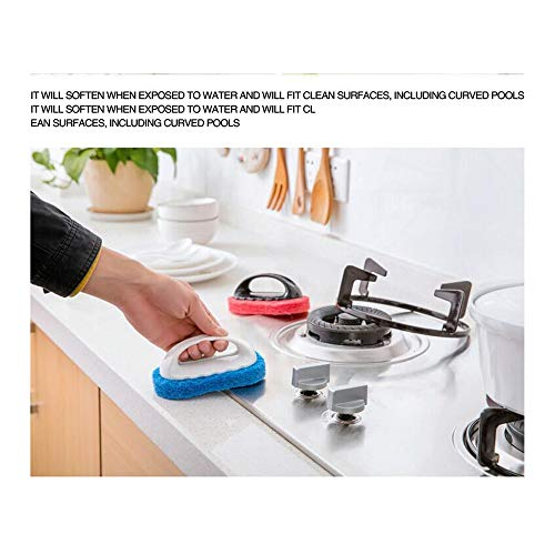 199.Mr Cleaning brush Kitchen bathroom cleaning brush Tile brush Ordinary floor brush With handle 2 combinations