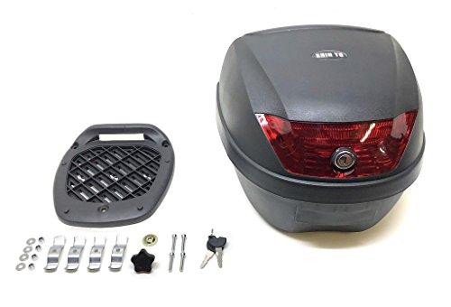 Top Case Topcase Cae Koffer ROME 28 l für Roller u. Motorrad schwarz