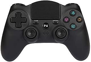 ps4 ワイヤレス コントローラー Wetoph GD12 Dualshock4 ワイヤレス ゲームパッド for PlayStation4 無線 Bluetooth接続 タッチパッド イヤホンジャック 充電ケーブル 付き PS4/PCに対応 (サードパーティ製品)ブラック