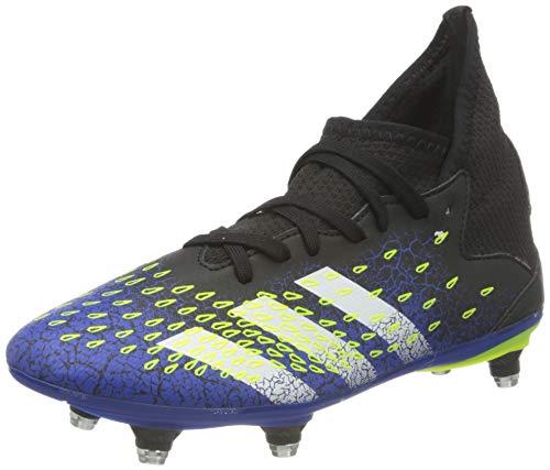 adidas Predator Freak .3 SG J, Scarpe da Calcio, Core Black/Ftwr White/Solar Yellow, 37 1/3 EU