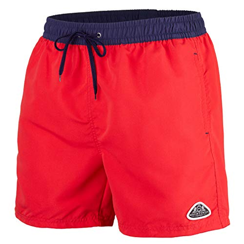 Mount Swiss Herren MS Badeshort, 5013, red-Navy, Gr. 5XL