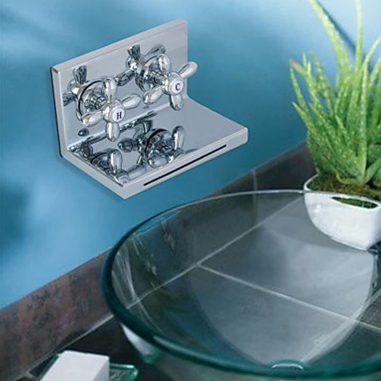 SADASD Fashion Modern Bathroom Basin Mixer Chrome Waterfall Monobloc Sink Faucets (Hot and Cold Water)