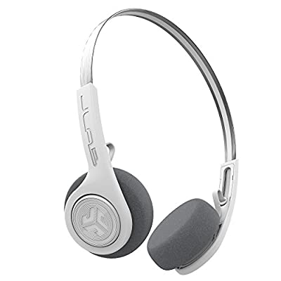 JLab Audio Rewind Wireless Retro Headphones - Bluetooth 4.2 Twelve Hours Playtime Custom EQ3 Sound Play and Pause Your Music Answer & Hang Up Phone Calls and Track Forward Throwback 80s 90s (White) by JLab Audio