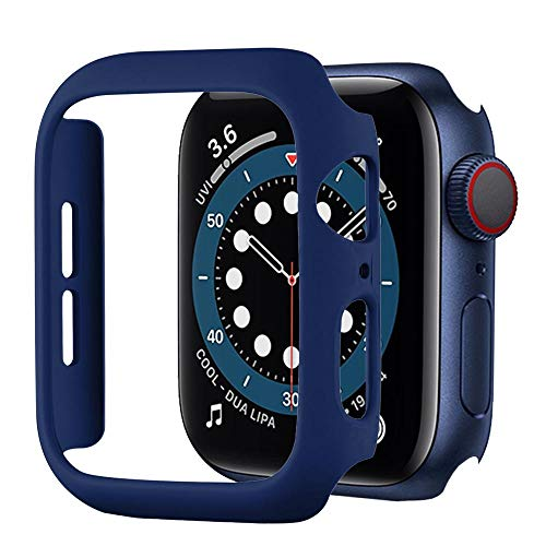 BOTOMALL Compatible Apple Watch Series 6/5/4 40mm 44mm Case, Series 3/2/1 38mm 42mm Matte Hard Cover Accessories Slim Guard Lightweight Protective Bumper for iWatch(Midnight Blue,40MM Series 6/5/4)