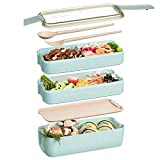 Edtsy Bento box for kids and adults with Dividers 1100 ml - Leakproof lunchbox with utensils - Lunch...