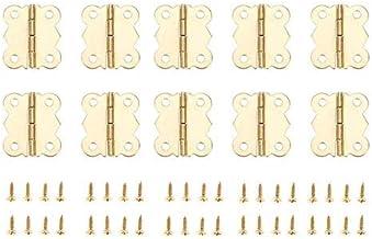 SSB-JIAJUPJ, 10st Metalen Gouden Kast Decoratieve Deurscharnieren 4 gaten Vintage Vlindersieraden Houten dozen Meubelschar...