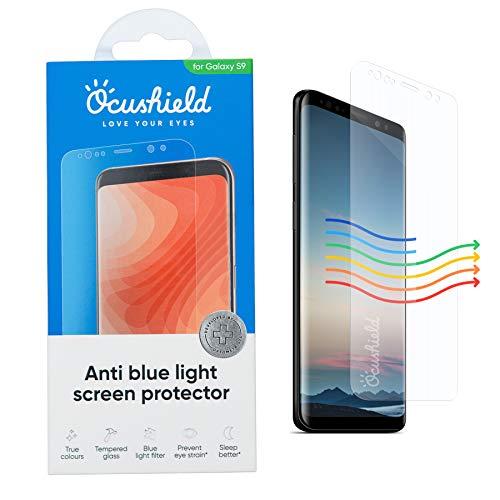 Ocushield Protector pantalla Samsung S9 de cristal templado con bloqueo luz azul - Dispositivo médico acreditado – Para dormir mejor