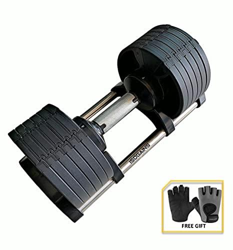 Adjustable Dumbbell 20KG (Smart), 2KG to 20KG, Home Gym Fitness Weights Workout Strength Training