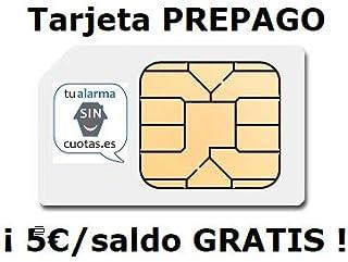Tarjeta SIM PREPAGO con 5 Euros y multiformato SIN cuotas fijas mensuales NI permanencia con Recarga automática Opcional ¡¡ para Cualquier Dispositivo de Tarjeta SIM o móvil gsm 2G/3G/4G !!