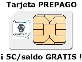 tualarmasincuotas.es Tarjeta SIM PREPAGO con 5 Euros y multiformato | con Recarga automática Opcional | para Móviles Alarmas Relojes Inteligentes GSM/2G/3G/4G | Sim Card de Datos